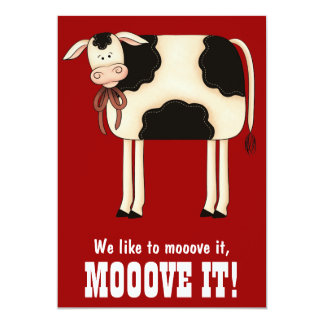 Funny Heifer Cow  Bachelorette Party Invitation