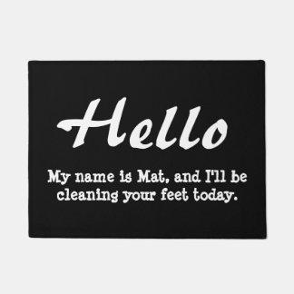 Funny Hello Doormat