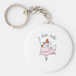 funny hen basic round button key ring