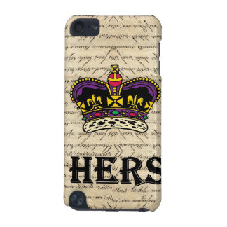 Funny hers text & crown iPod touch (5th generation) case