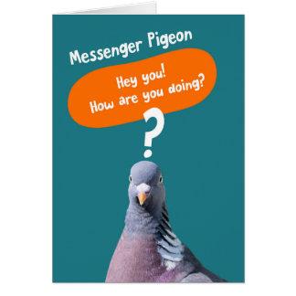 Funny Hi Hello Card - Messenger Pigeon