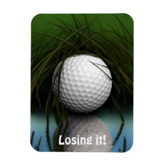 Funny Hiding Golf Ball Art Magnet