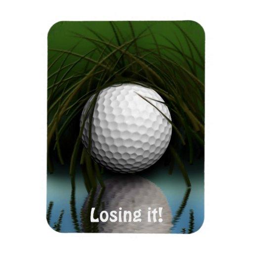 Funny Hiding Golf Ball Art Magnet