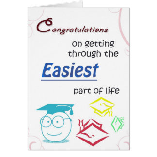 Funny High School College Graduation Card