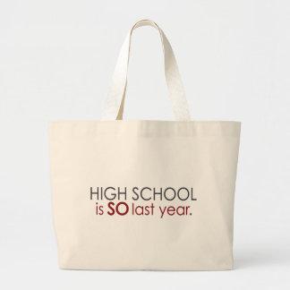 Funny High School Grad Canvas Bag