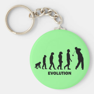 Funny hilarious golf basic round button key ring