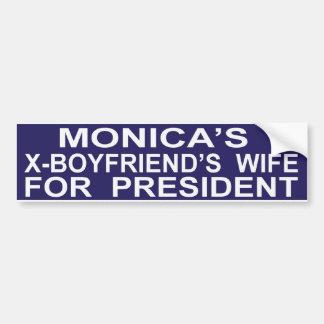 Funny Hillary Clinton for President Sticker Bumper Sticker