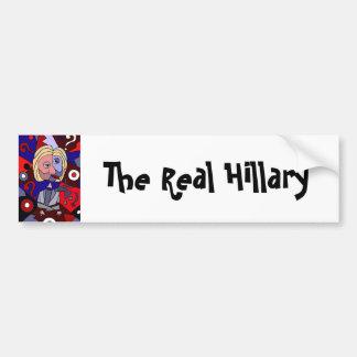 Funny Hillary Clinton Political Abstract Art Bumper Sticker