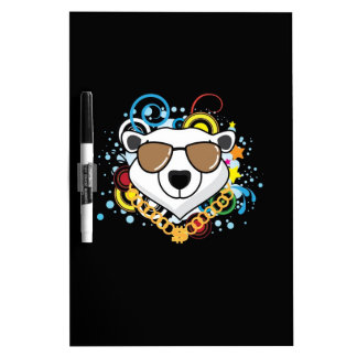 Funny Hip-Hop Polar Bear Picture Dry-Erase Boards