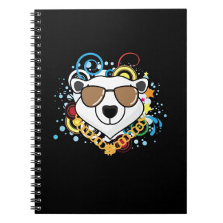 Funny Hip-Hop Polar Bear Picture Spiral Note Book