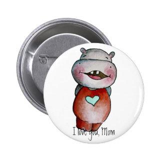 Funny Hippo Button