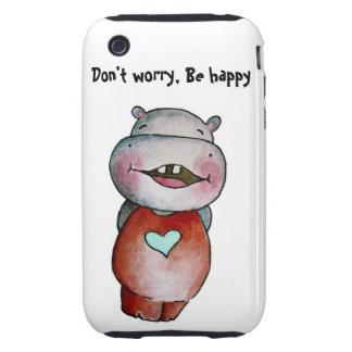 Funny Hippo iPhone 3/3GS Case iPhone 3 Tough Case