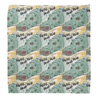 funny hippo on the lake cartoon bandannas