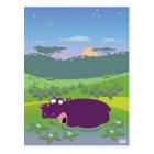 Funny Hippo Postcard
