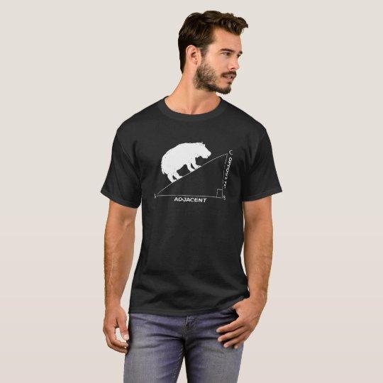 funny hippopotamus hypotenuse Math hippo triangle T-Shirt