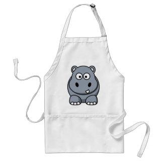 Funny hippopotamus standard apron