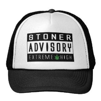 Funny Hippy warning sign Trucker Hats