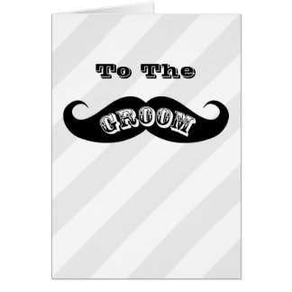 Funny Hipster Groom Mustache Card