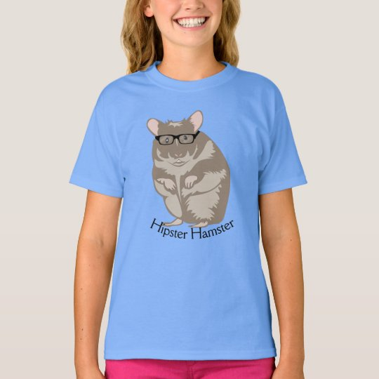 Funny Hipster Hamster Tee Shirt