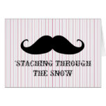 Funny hipster moustache holiday xmas moustaches cards
