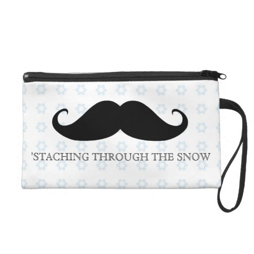 Funny hipster mustache holiday xmas mustaches wristlets