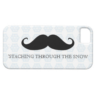 Funny hipster mustache holiday xmas mustaches barely there iPhone 5 case
