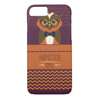 Funny Hipster Style Owl iPhone 7 Case