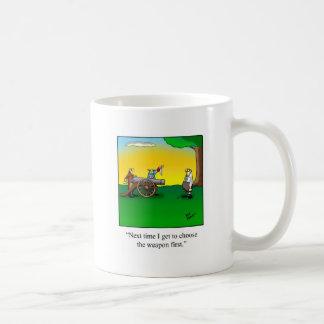 Funny History Cartoon Gift Basic White Mug