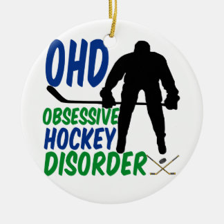 Funny Hockey Christmas Ornament