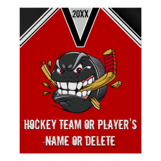 Funny Hockey Posters PERSONALIZED with Your COLORS