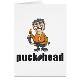 Funny Hockey Puck Head Cards