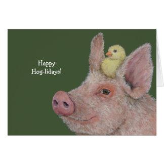 Funny Hog holiday card