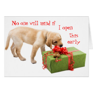 Funny Holiday Greetings from the Dog Card