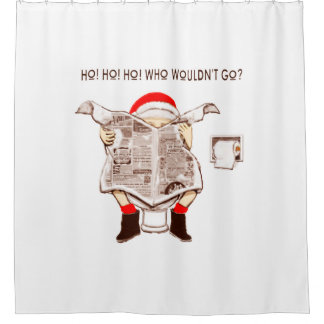 funny holiday home decor shower curtain