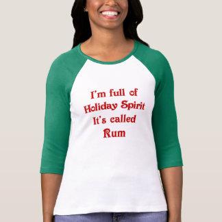 Funny Holiday Spirit Rum T-shirt