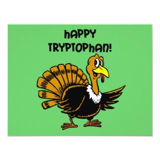 Funny holiday turkey card