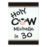 Funny Holy Cow 30th Birthday Party Invitation 13 Cm X 18 Cm Invitation Card