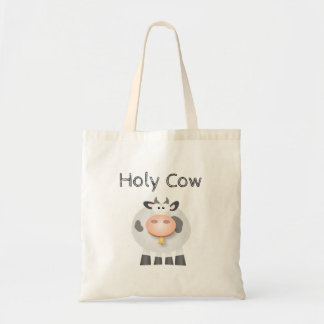 Funny Holy Cow It's Your Birthday Cute Tote Bag