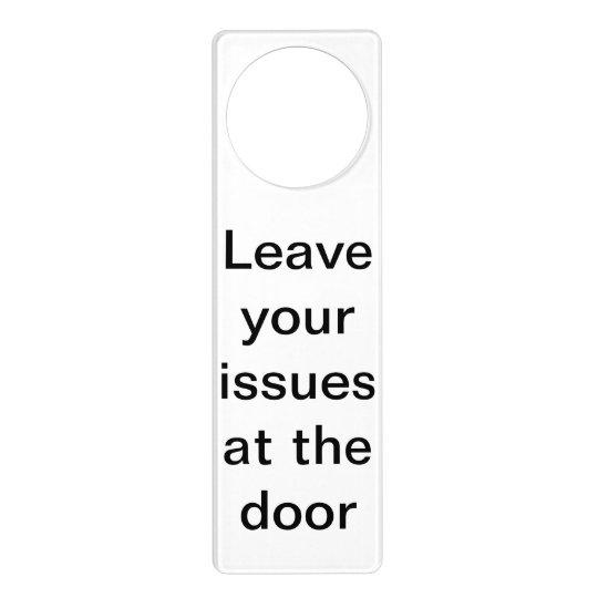 Funny Honest Business Door Hanger
