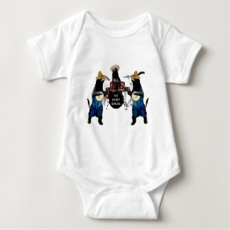 Funny Honey Badger Band Baby Bodysuit