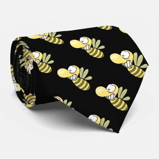 Funny honey yellow bee tie