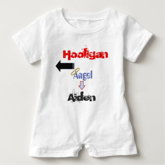 "Funny ""Hooligan"" Baby Romper for Twins Baby Bodysuit"