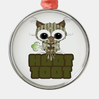 Funny Hoot Toot Cute Farting Owl Christmas Ornaments