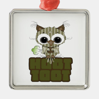 Funny Hoot Toot Cute Farting Owl Ornament