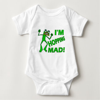Funny Hopping Mad Frog Pun Baby Bodysuit