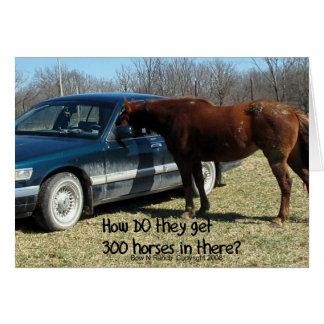 "Funny Horse ""300 Horse"" Card"