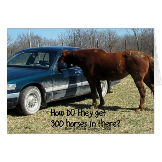 """Funny Horse """"300 Horse"""" Greeting Card"""