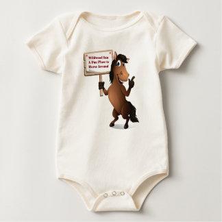 Funny Horse Baby Onsie Baby Bodysuit