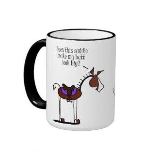 Funny Horse Cartoon Ringer Mug