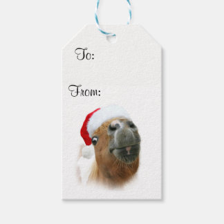 Funny horse Christmas Gift Tags